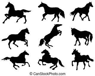 Siluetas de caballo