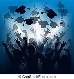 Siluetas de celebración de graduación