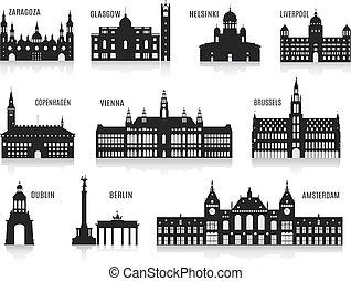 Siluetas de ciudades
