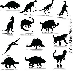 Siluetas de dinosaurio