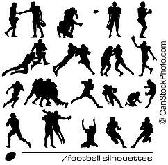 Siluetas de fútbol americano