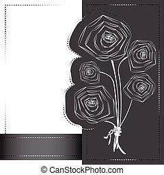Siluetas de flores de amapola.