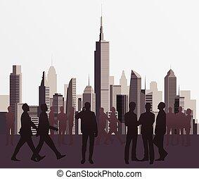 Siluetas de gente de negocios