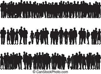 Siluetas de gente