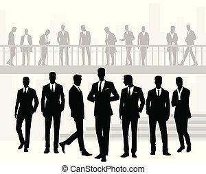 Siluetas de hombres de negocios