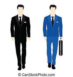 Siluetas de la gente en traje de negocios
