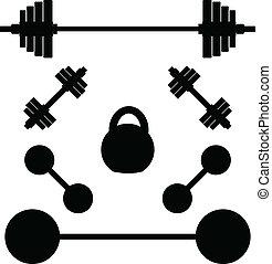 Siluetas de pesas