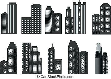 Siluetas de rascacielos