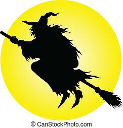 Siluetas de vector de brujas
