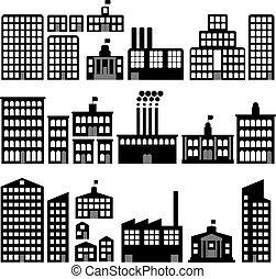 siluetas, edificio