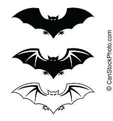 siluetas, murciélagos