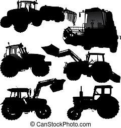 Siluetas tractoras