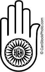 Simbol de jainismo, aymsa