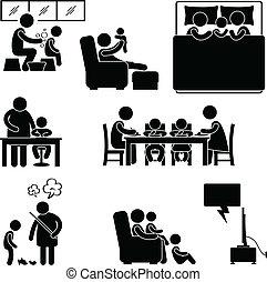 Simbolo de actividad familiar