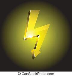 Simbolo de advertencia de electricidad.
