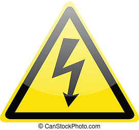 Simbolo de alto voltaje en peligro