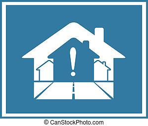 Simbolo de bienes raíces