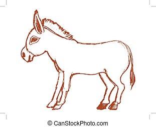 Simbolo de burro de terquedad