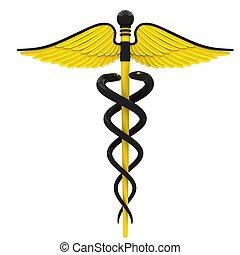Simbolo de caduceo médico