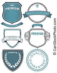 Simbolo de calidad premium