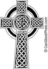 Simbolo de cruz celta, tatuaje o arte
