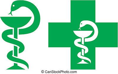 Simbolo de cruz médica