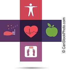 Simbolo de cuidado de salud colorido