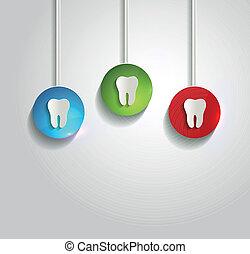 Simbolo de dientes blancos saludable