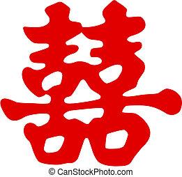 Simbolo de felicidad china