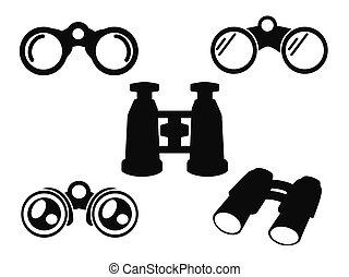 Simbolo de icono binocular