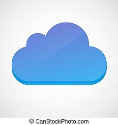 Simbolo de icono brillante de Cloud 3d.