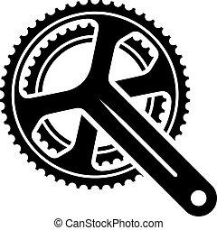 Simbolo de manivela de bicicleta