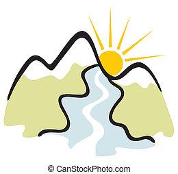 Simbolo de montaña