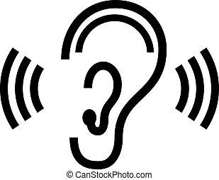 Simbolo de oído vector