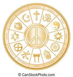 Simbolo de paz, religiones del mundo