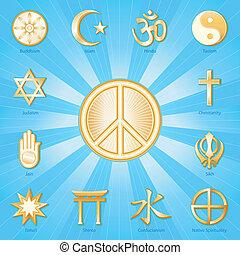 Simbolo de paz, religiones mundiales