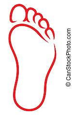 Simbolo de pie
