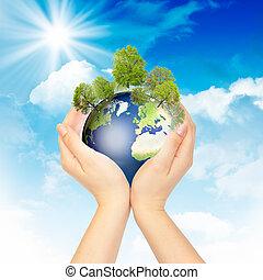 Simbolo de protección ambiental.