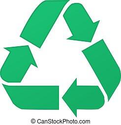 Simbolo de reciclaje, aislado en fondo blanco, ilustración vectorial eps10