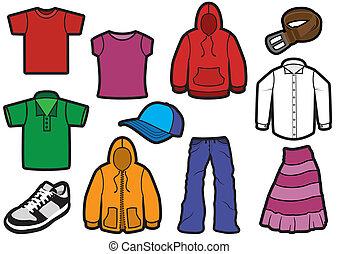Simbolo de ropa atornillado.