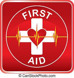 Simbolo de salud de primera ayuda