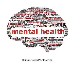 Simbolo de salud mental aislado en blanco