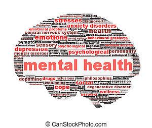 Simbolo de salud mental diseño conceptual