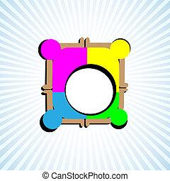 Simbolo de trabajo en equipo, unidad, sindicato