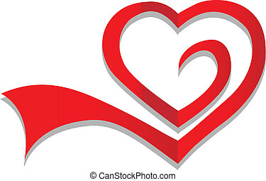 Simbolo del corazón vector de logo