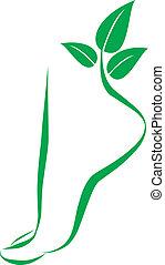 Simbolo del pie. Elementos para el diseño
