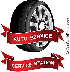 Simbolo del vector del servicio de auto firma, icono, pegatina