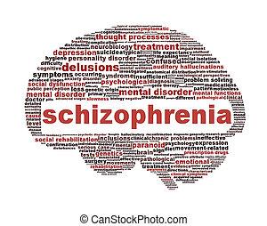 Simbolo esquizofrenia aislado en blanco