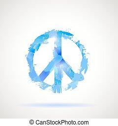 Simbolo hippie de paz.