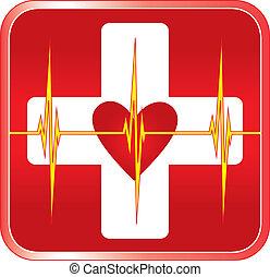 Simbolo médico de primeros auxilios
